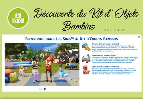 Kit De Jeu Review Kit Bambins Sims4fr Communaute Sur