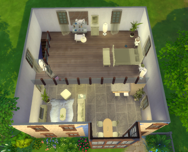 tuto cr er une mezzanine sims4fr communaut sur les sims. Black Bedroom Furniture Sets. Home Design Ideas