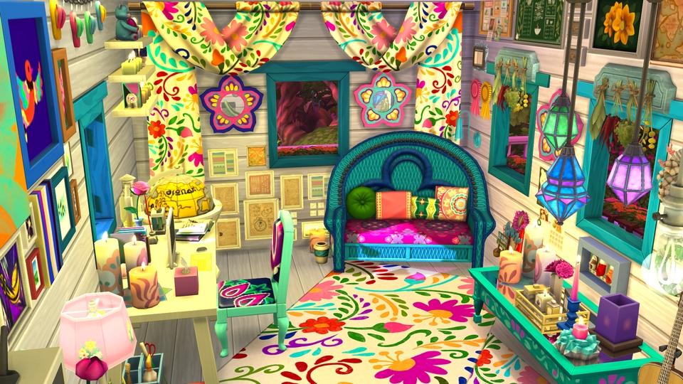 Sims 4 - Speed build - Cabane de la clairière forestière - 14.jpg